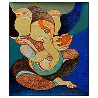 'Peace Within' - Religious and Spiritual Cubist Painting
