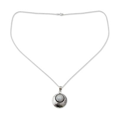 Artisan Jewelry Moonstone and Sterling Silver Necklace
