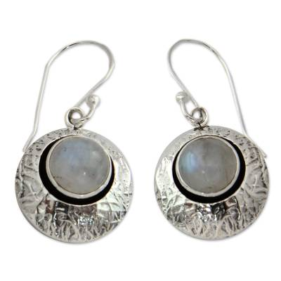 Artisan Jewelry Moonstone and Sterling Silver Earrings