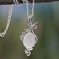Moonstone pendant necklace, 'Luminous Illusion' - Moonstone pendant necklace