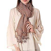 Wool and silk shawl, Taupe Bliss