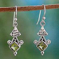 Peridot Dangle Earrings Mughal Mystic (india)