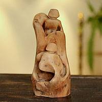 Reclaimed wood sculpture, 'Each Other's Company' - Artisan Crafted Wood Sculpture from India