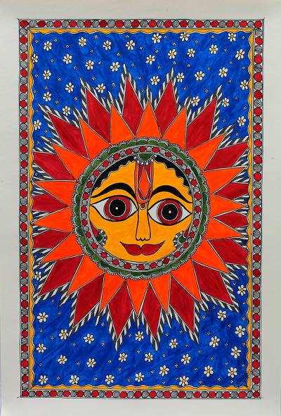 Madhubani painting, Royal Sun
