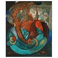 'Moods of Ganesha I' - Original Ganesha Painting