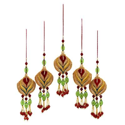 Beaded ornaments (Set of 5)