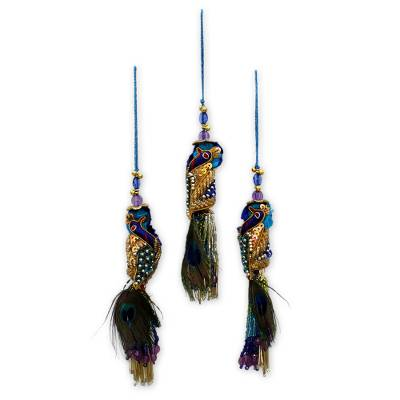 Beaded ornaments (Set of 3)