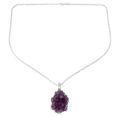 Handmade Sterling Silver and Amethyst Necklace