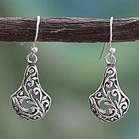 Sterling silver dangle earrings, 'Baramati Vineyard' - Sterling silver dangle earrings