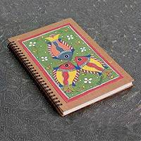 Madhubani journal, 'Wonders of Nature' - Madhubani painting journal