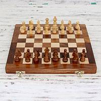 Wood chess set, 'Test of the Mind'
