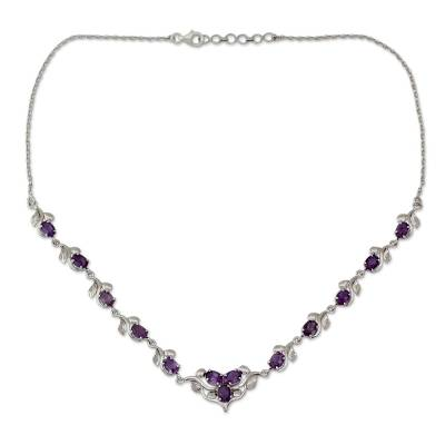Amethyst Y necklace