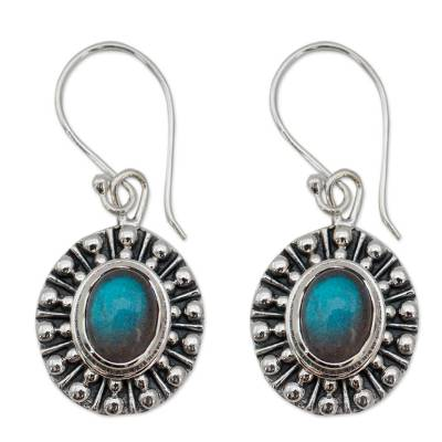 Unique Sterling Silver and Labradorite Earrings