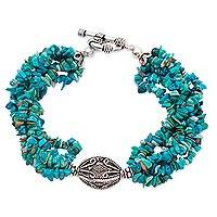 Turquoise torsade bracelet, In Friendship