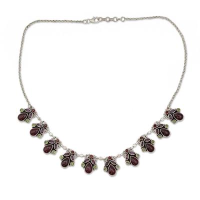 Artisan Crafted Sterling Silver Multigem Necklace