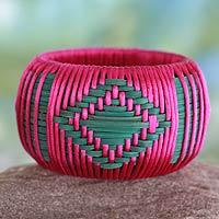 Handcrafted rattan bangle bracelet,