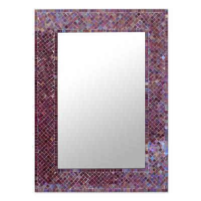 Unicef market wall mirror glass mosaic tile handmade in