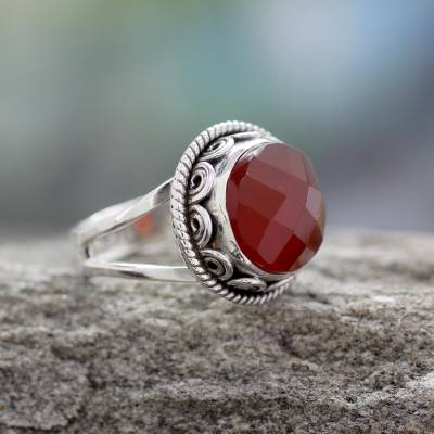 dragon necklace silver amazon appstore - Fair Trade Jewelry Sterling Silver Ring with Carnelian