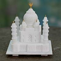 Marble sculpture, 'Taj Mahal' (medium) - Marble sculpture (Medium)