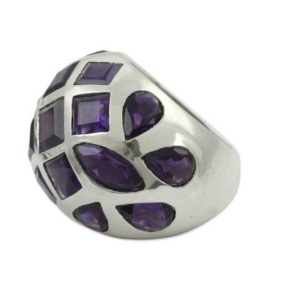 Amethyst domed ring