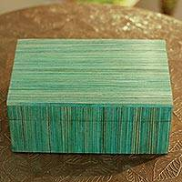Indian elm wood box, 'Fresh Delhi' - Handcrafted Wood Decorative Box from India
