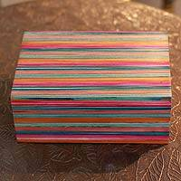 Indian elm wood box, 'Festive Delhi' - Wood box