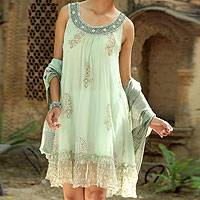 Embellished dress, Hemlock Paisley
