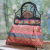 Shoulder bag, 'Gujarat Dreams' - Artisan Crafted Patterned Shoulder Bag from India