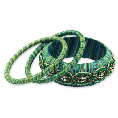 Fair Trade Embellished Bangle Bracelets (Set of 3)