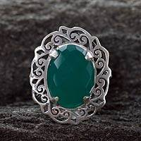 Sterling Silver Cocktail Ring India Secret (india)
