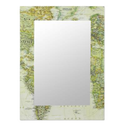 Decoupage wall mirror