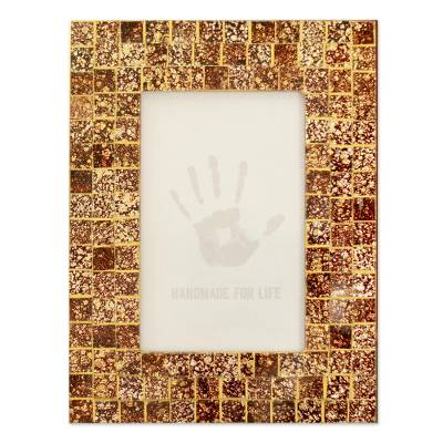 Glass mosaic photo frame (4x6)