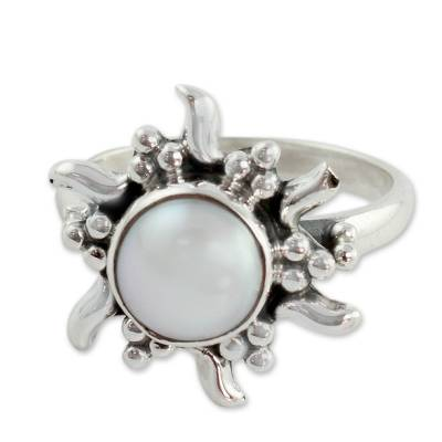 Cultured pearl cocktail ring