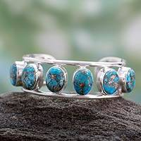 Featured review for Sterling silver cuff bracelet, Serene Beauty
