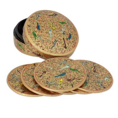Papier mache coasters (Set of 6)
