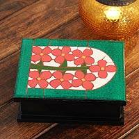 Mosaic decorative box, 'Orange Blossoms' - Mosaic decorative box