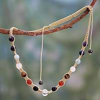 Multi-gemstone chakra necklace, 'Well-Being'