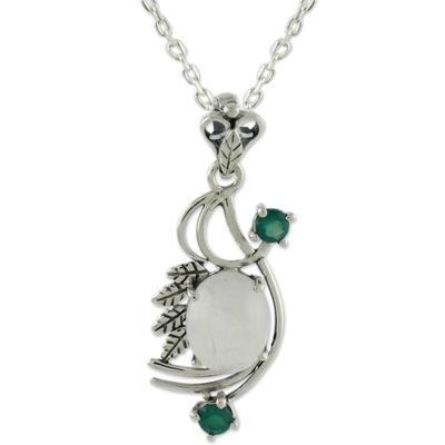 Rainbow Moonstone Pendant Necklace