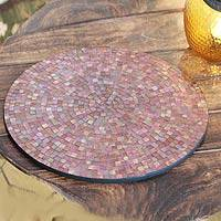 Glass mosaic vanity tray,