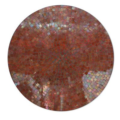 Glass mosaic vanity tray