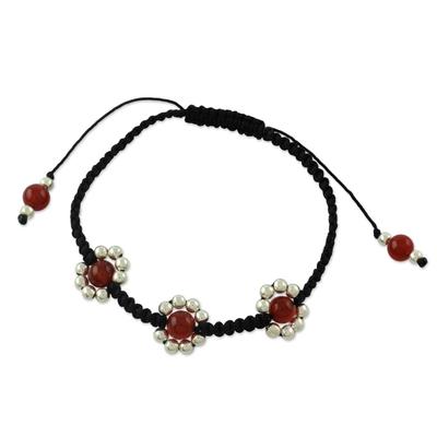 Carnelian shamballa bracelet