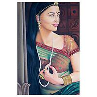 'Jodhaa' - Original Oil Painting on Canvas Rajasthani Realist Portrait