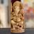 Wood sculpture, 'Blessed Ganesha I' - Wood sculpture (image 2) thumbail