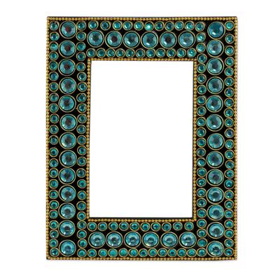Bejeweled photo frame,