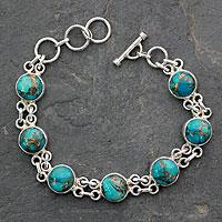 Sterling Silver Link Bracelet Sky Paths (india)