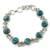 Sterling silver link bracelet, 'Sky Paths' - Silver and Comp Turquoise Bracelet from India Jewelry (image 2a) thumbail