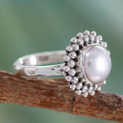 cleaning tarnished silver ring mountings - Artisan Crafted Sterling Silver Pearl Ring