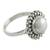 Cultured pearl cocktail ring, 'Kolkata Halo' - Artisan Crafted Sterling Silver Pearl Ring (image 2a) thumbail