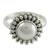 Cultured pearl cocktail ring, 'Kolkata Halo' - Artisan Crafted Sterling Silver Pearl Ring (image 2b) thumbail