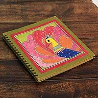 Madhubani photo album, 'Mithila Love Story' - Handmade Madhubani Painting Photo Album